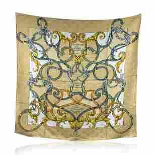 Hermes Paris Silk Jacquard Scarf L'Instruction Du Roy