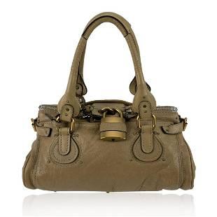 Chloe Tan Beige Leather Paddington Bag Tote Satchel