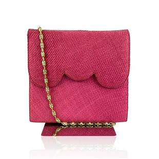Valentino Garavani Night Vintage Hot Pink Raffia