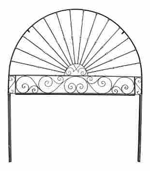 1980s Spanish Colonial Style King Size Iron Headboard