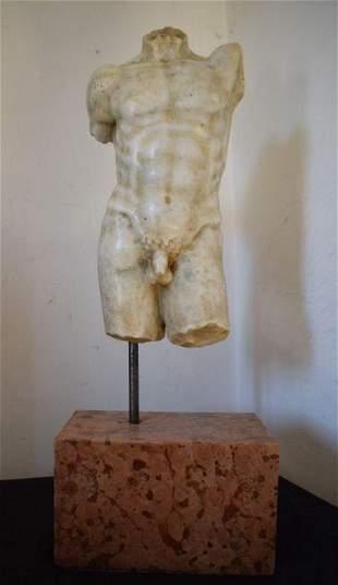 Marble torso, 19th century