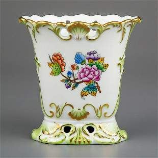 Herend Queen Victoria Vase with Breakthrough #6475/VBO