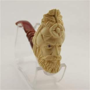 Sultan (King),Hand carved Meerschaum Pipe