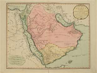 794 Anville Map of the Arabian Peninsula and Red Sea