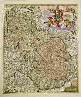 1680 Visscher Map of French and Italian Alpine Region
