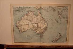 1886 Map of Australia and New Zealand
