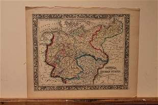 1860 Map of Prussia and Germany