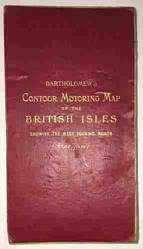 Bartholomew's Contour Motoring Map of the British Isles