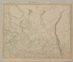 1840 SDUK Map of Northern Russia in Europe -- Russia in