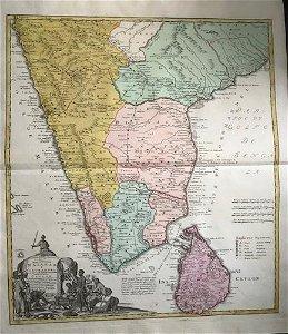 Southern India. Malabar & Coromandel coast. 1762 by