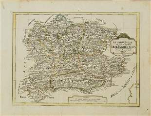 1790 Pazzini Carli Map of English Midlands, East and