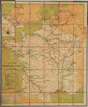 21 Official Transportation Map of France -- Carte de