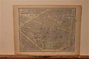 1890 Map of Brussels