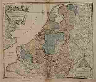 1792 Elwe Map of the Netherlands and Belgium -- Les