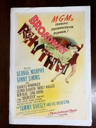 Broadway Rhythm - Art by Hirschfeld (1944) US One Sheet