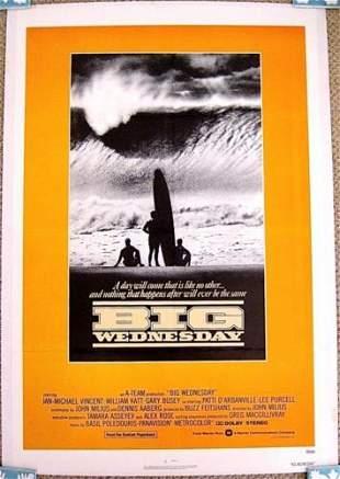 BIG WEDNESDAY '78 LB 1 SH POSTER SURFER MILIUS ON