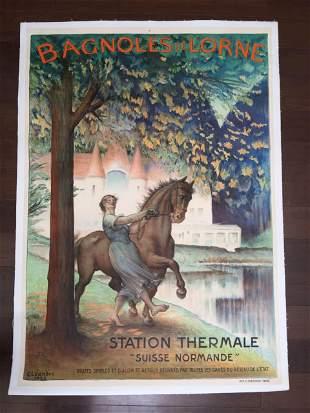"""Bagnoles De Lorne (1922) 29.25"""" x 41.25"""" French"""