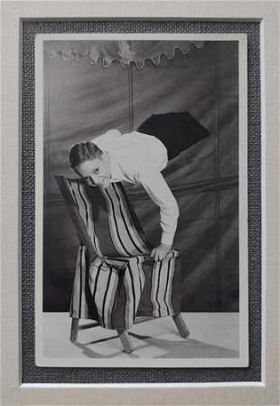 Strange 1940's Trick Photo of a Flying Boy doing a