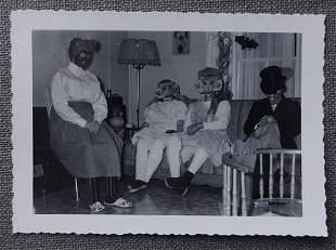 Strange 1950's Halloween Costume Photo including a