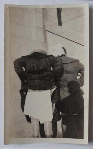 Unusual Vernacular Photo of Women Raising Skirts