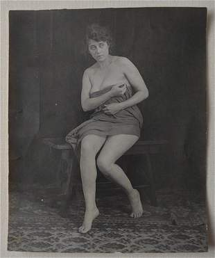 Discreetly Risque 1910's Larger Format Photo of an