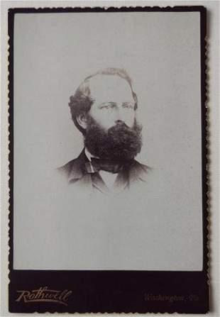 Huge Beard Handsome Man Cabinet Card, Penn