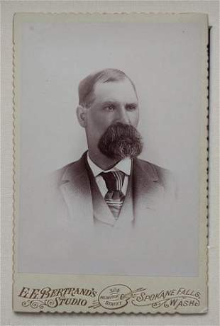 Remarkable Facial Hair Cabinet Card. Huge Goatee ca.