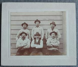 Handsome Portrait of 6 Men 1900's Gottschalk