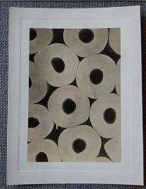 1930's Abstract Modernist Photo of Paper Rolls