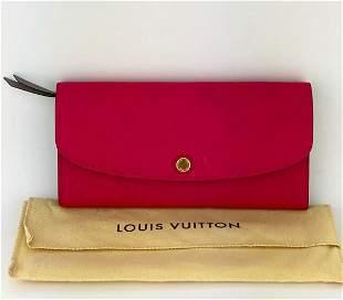 Louis Vuitton Emilie Hot Pink Empriente Leather Wallet