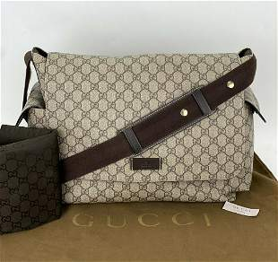 GUCCI GG Supreme Plus Shoulder Bag Messenger Diaper Bag