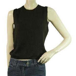 Cashmeres Black Sleeveless Knit Top Gillet Vest size XS