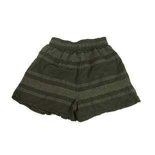 Auguste Black Gray Elasticated Waist Summer Shorts