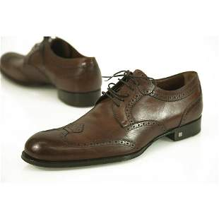 Louis Vuitton Brown Leather Lace Up Derby Oxford Shoes