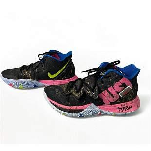 Nike Men's Kyrie V 5 Black Irving Customized Basketball