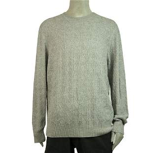 Brooks Brothers Gray Sweater 100% Merino Wool Knit Mens