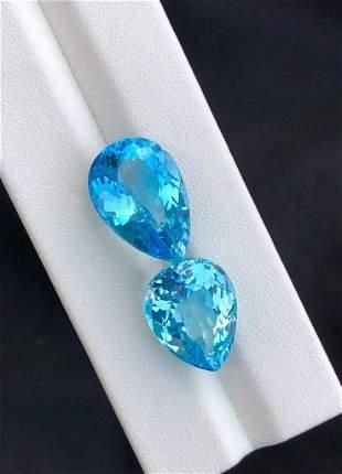 Blue Topaz Gemstone , Swiss Blue Topaz - 34.85 cts ,