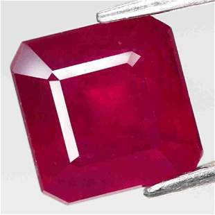 3,54 cts Natural Scissor Cut Blood Red Ruby
