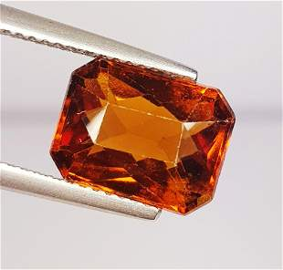 4.84 ct Natural Hessonite Garnet Octagon Cut