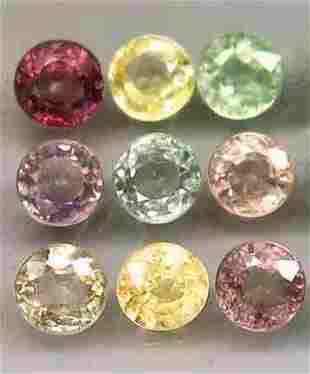 Natural Color Fancy Sapphires Round Cut Only Heated