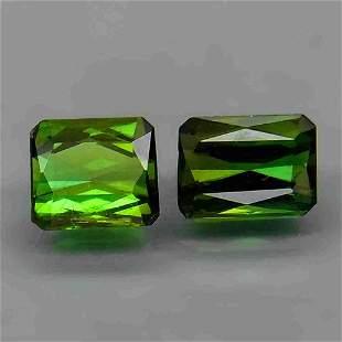pair! natural green tourmaline-1,67 ct 1,2