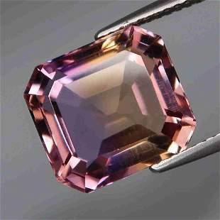 natural bi color ametrine-7,46 ct 1,2