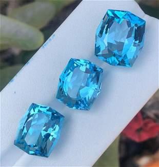 47 Carats Beautiful Swiss Blue Topaz with Best Cut