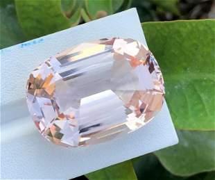 75 Carats Brillint Light Pink Morganite Cushion Cut ~