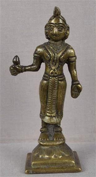 19c Indian bronze BHUDEVI