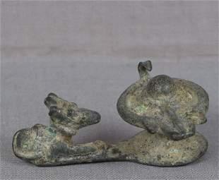 /17c Indian bronze & SHIVA LINGAM & NANDI bull