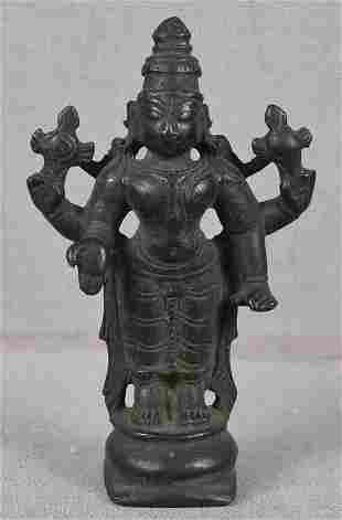 c Indian bronze votive statue VISHNU