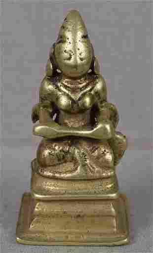 18c Indian bronze goddess ANNAPURNA