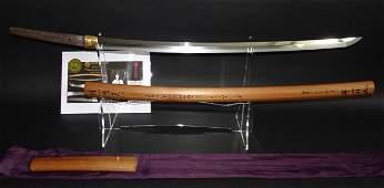 Beautiful Minatogawa sword Katana in Shirasaya made by