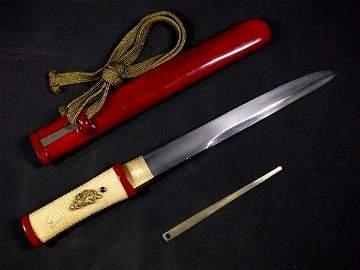 Japanese Samurai tanto made by Ittesusai Daidou made in